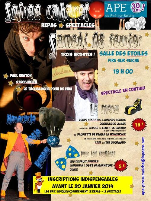 "- Soirée ""cabaret"" du 8 février 2013"