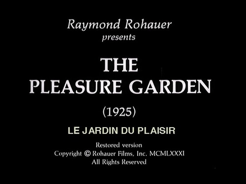 THE PLEASURE GARDEN : STORYBOARD COMPLET