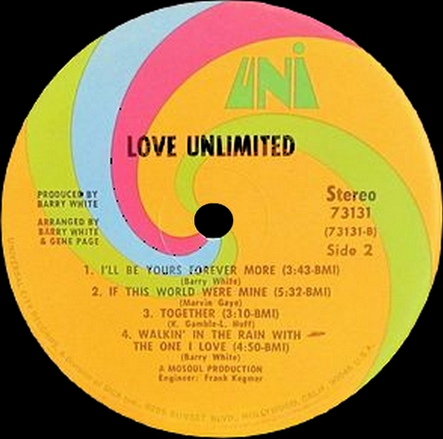 "The Love Unlimited 1972 : Album "" From A Girl's Point Of View We Give To You "" Uni Records 73131 [ US ]"