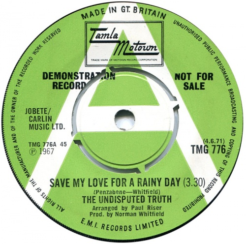 1971 : Single SP Gordy Records G 7106 [ US ]