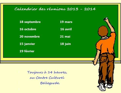 RÉUNIONS 2013 - 2014