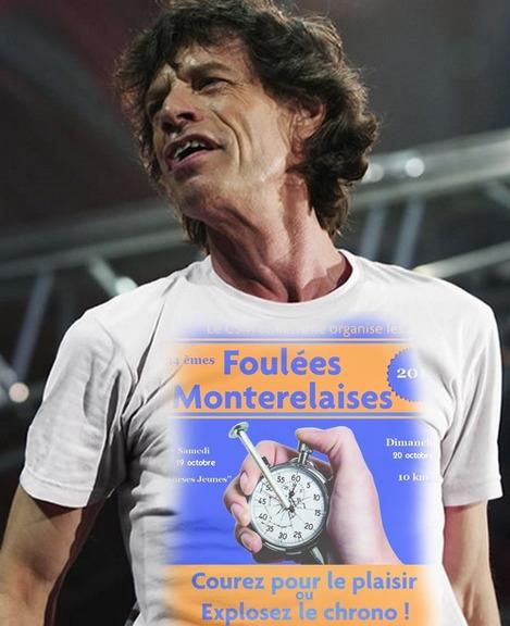 """Les Rolling Stones aux couleurs des """"FOULEES"""""""