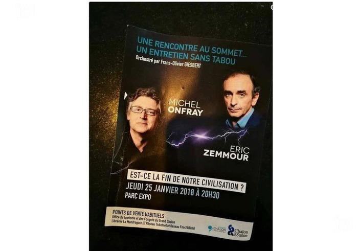 Après la venue de Nadine Morano, la Blanche Neige islamophobe à Chalon-sur-Saône, nous allons avoir droit à la déambulation d'Eric Zemmour le plus grand menteur de la fachosphère
