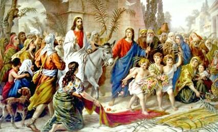 Te voici, Jésus, monté sur un âne....