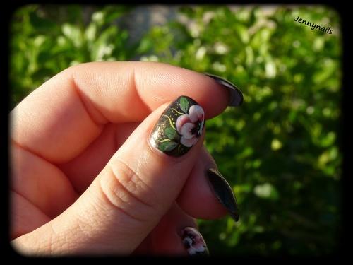 Nail art : Fleur de pavot