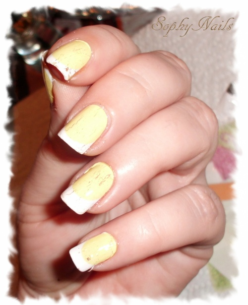 Jaune & french blanche  - Nails Decals