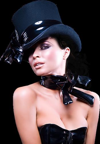 TUBES FEMMES CHAPEAUX PNG....BON APPETIT
