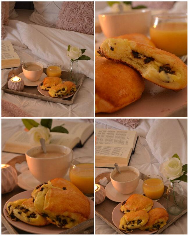 Brioche Suisse { Crème Pâtissière & Pépite de Chocolat}