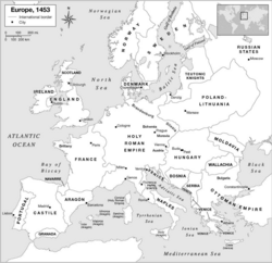 Introduction : l'Europe vers 1453