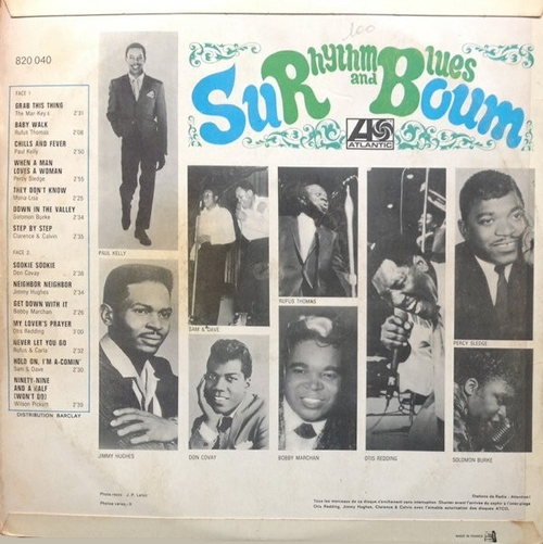 Sur Boum Rhythm & Blues LP Atlantic Records 0820040 [ FR ]