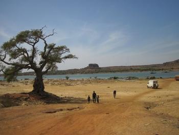mali piste bamako ségou fleuve niger face à koulikoro