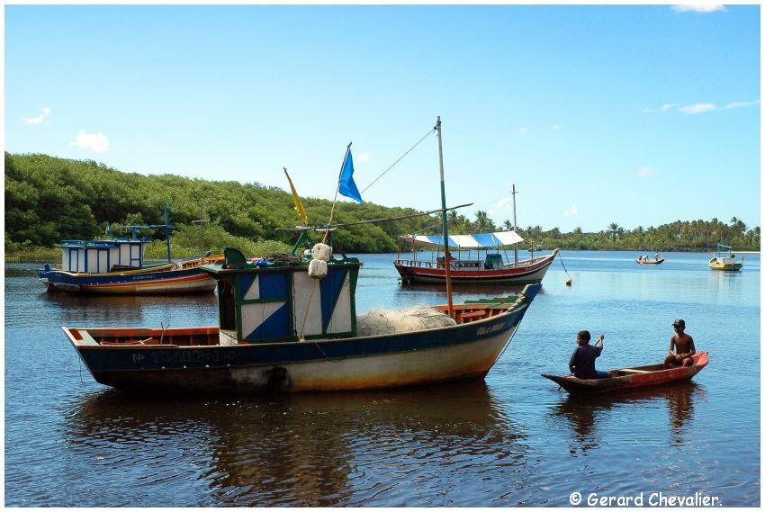 Caraiva 10 (Brésil) La vie sur le rio #1