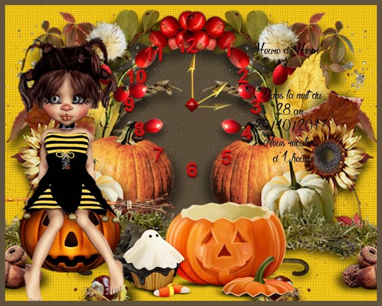 2 défis pour Kikoonette (Halloween & Change d'heure )
