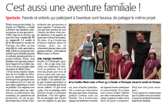 Article duMidi Libre  8/08/208