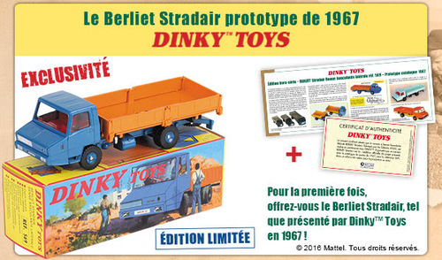 Le Berliet Stradair prototype de 1967 Dinky Toys - Hors-série