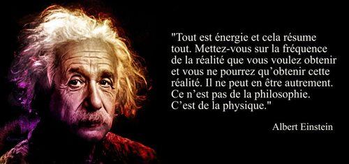 « Tout est énergie »