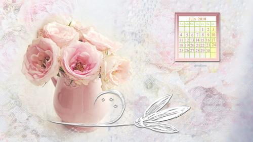 Calendrier fond d écran pour le mois de JUIN