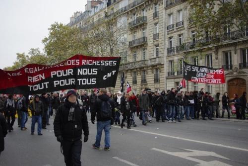 Manifestation du 14 novembre 2012 à Paris