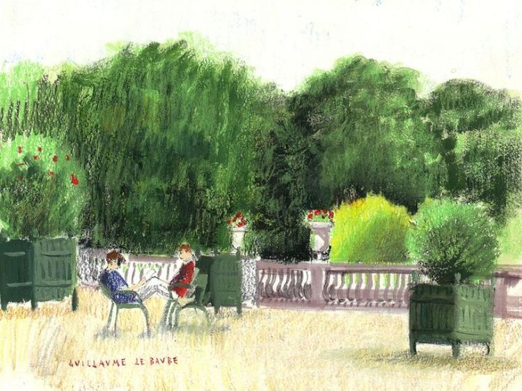 Les étudiants du jardin du Luxembourg (peintures)