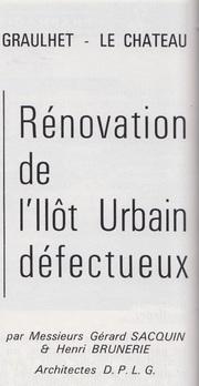 - 1966 - L'étonnant projet de réaménagement de l'Ilôt Panessac