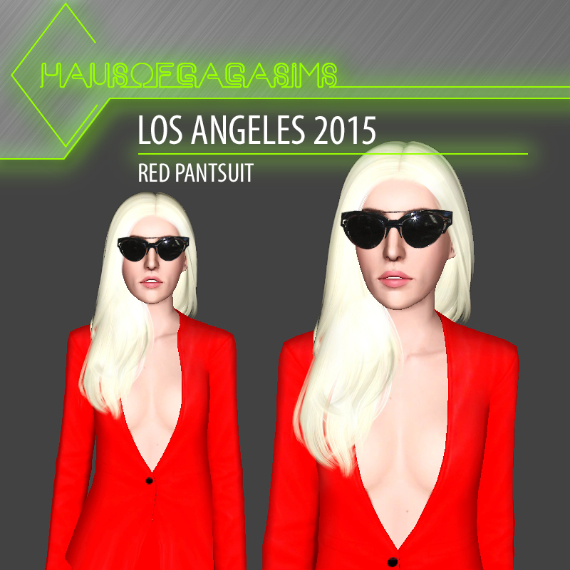 LOS ANGELES 2015 RED PANTSUIT
