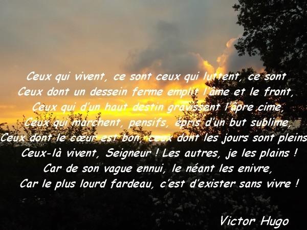 Top Poèmes de Victor Hugo : Extrait - Le monde de la philo et de  DT89