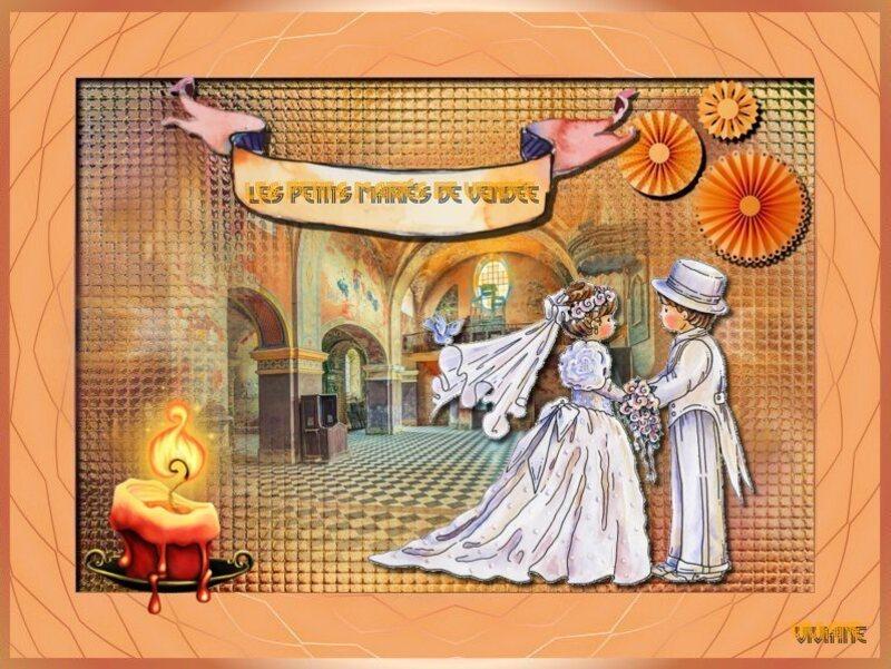 Les mariés défi de Marjolaine