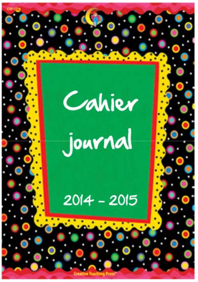 PAGES DE GARDE CAHIER JOURNAL