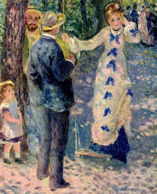 « La balançoire », 1876, Pierre-Auguste Renoir, musée d'Orsay, Paris.