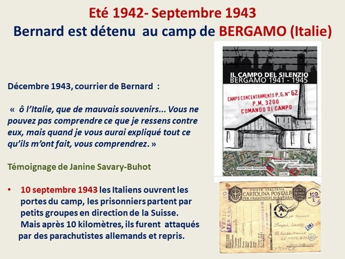 CNRD 2019 : témoignage sur Bernard SAVARY (BIM, 1ère DFL) auprès d'élèves de 3e de l'établissement professionnel Jeanne d'Arc au Havre