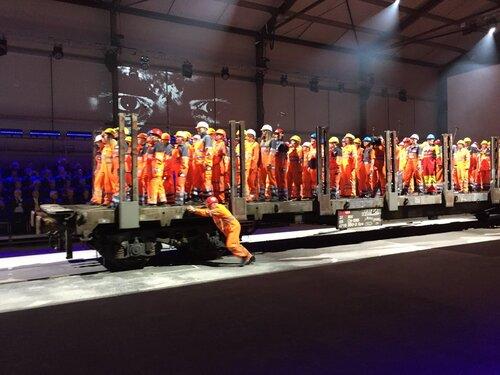 Cérémonie de mise en service officielle du Tunnel du Saint-Gothard en Suisse