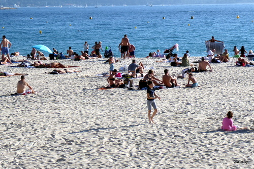Cannes: la plage fin octobre!