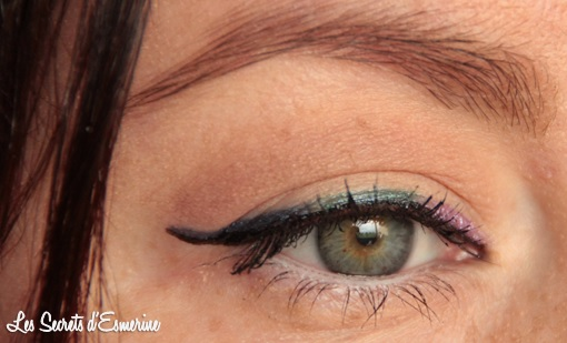 double liner, noir, arc en ciel, kiko, rain smoky shades, color impact, maquillage, makeup, yeux