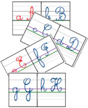 Progression des lettres majuscules