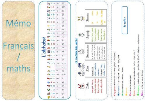 Un mémo français maths pour les CE1 CE2