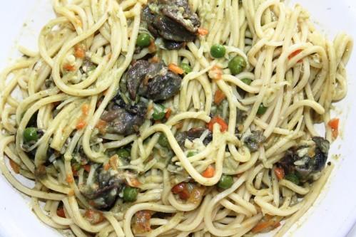 spaghetti aux escargots et petits légumes 03 10