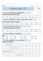 Evaluations période 2