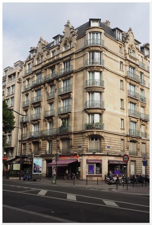 Paris. Quartier de La Villette. Rue Jean-Jaurès.