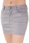 Mini-jupe grise effet huilé