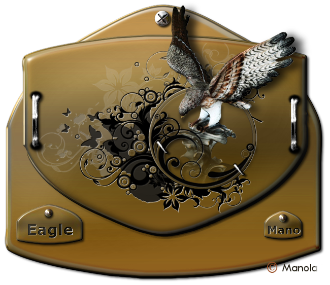Srap digital pur relief - les animaux - Eagle