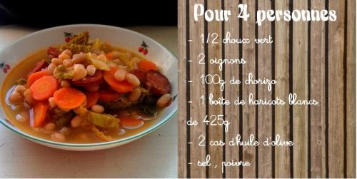 Soupe d'hiver aux haricots blancs et chorizo