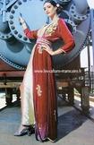 Takchita-marocaine-velours rouge pas cher et vente en ligne pour marige oriental -TAK-S919