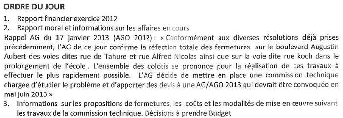 AG de l'ASA Coin Joli : qu'indique l'ordre du jour ?