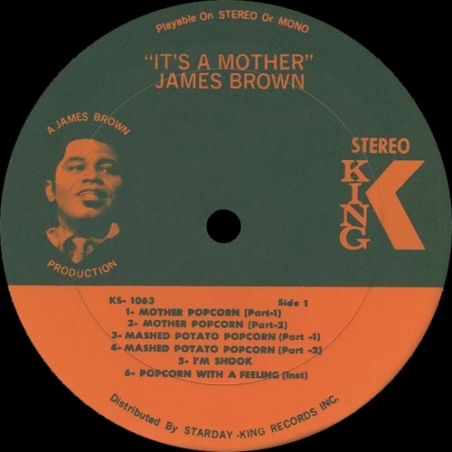"James Brown : Album "" It's A Mother "" King Records KSD 1063 [ US ]"