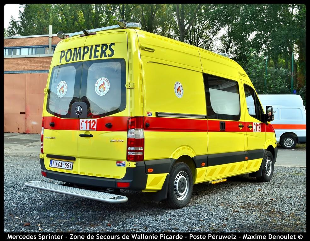 zs wapi nouvelle ambulance pour le poste de p ruwelz belgian emergency service. Black Bedroom Furniture Sets. Home Design Ideas