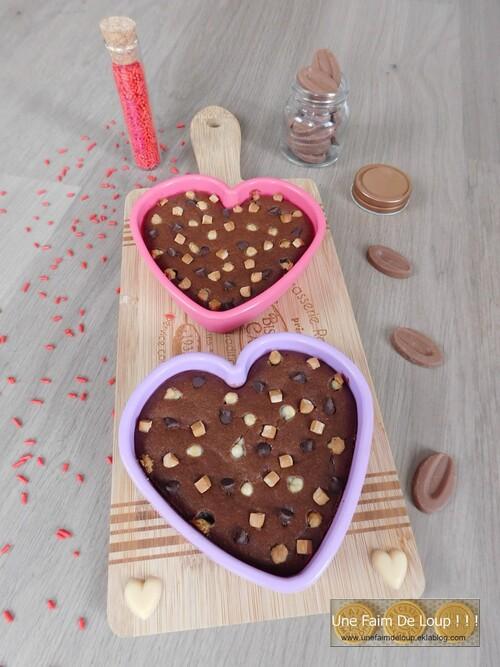 Cœurs fondants aux 3 chocolats