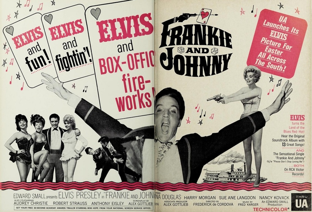 FRANKIE AND JOHNNY BOX OFFICE USA 1966