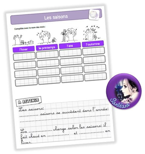 Evaluation Calendrier Ce1.Temps Le Petit Cartable De Sanleane