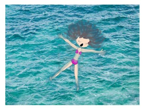 Dans l'eau