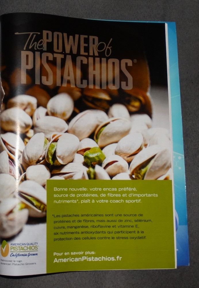"Connaissiez vous ""the power of pistachios"" ?"